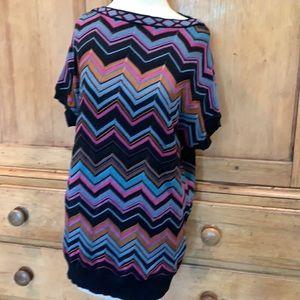MISSONI classic chevron knit tunic dress
